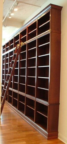 Trendy Home Library Wall Study Library Wall, Dream Library, Library Design, Library Ladder, Future Library, Built In Bookcase, Bookcases, Library Bookshelves, Home Libraries