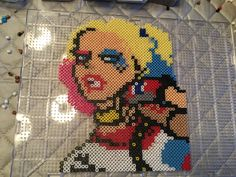 Harley Quinn Suicide Squad Perler by @lillian_dabs