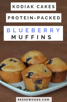 These aren't your grandma's blueberry muffins. These protein muffins are low-fat, melt in your mouth delicious. Full macros listed in post! Vegan adaptable with vegan substitutions provided in recipe! High Protein Muffins, Protein Snacks, Blueberry Protein Muffins, High Protein Breakfast, Healthy Protein, Blue Berry Muffins, High Protein Recipes Low Carb, Low Fat Muffins, Protein Cake