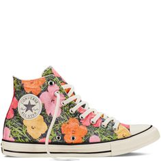 9c1366df859 Converse Chuck Taylor All Star Andy Warhol Floral High-Top in White Floral  Converse
