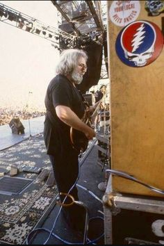 Jerry Garcia a little older but still playing.