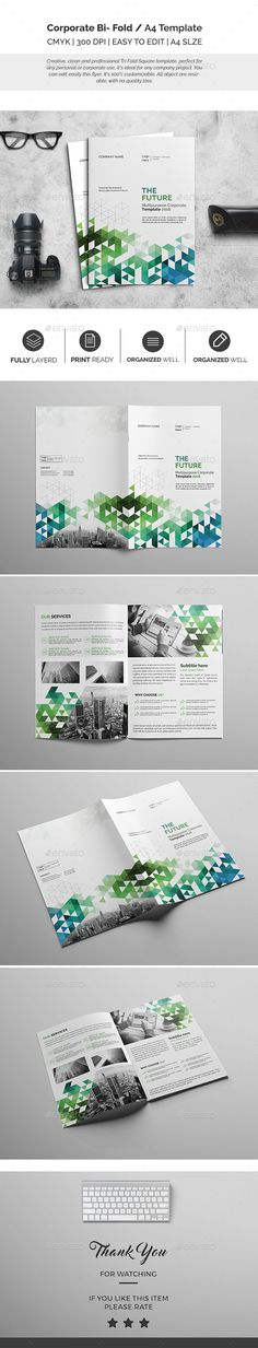 MINT Multipurpose Trifold Brochure by AgataCreate on - half fold brochure template