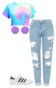 """""""Untitled #467"""" by kylie100 ❤ liked on Polyvore featuring Topshop and adidas Originals"""