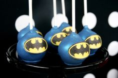 Superhero Birthday Party for Boys | Batman Cake Pops
