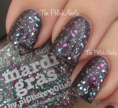 piCture pOlish 'Mardi Gras' swatched by The PolishAholic!