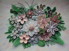 Oorspronkelijke papier filigraan kunst aan de muur - adem van de lente