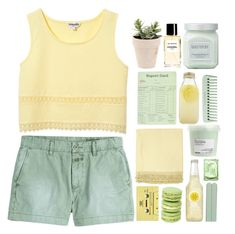 """""""❃;; and everything was yellow"""" by emma-love23 ❤ liked on Polyvore featuring Closed, Laura Mercier, Bormioli Rocco, Surya, CASSETTE, The Body Shop, Chanel, Davines, 23lovesets and 23topsets"""