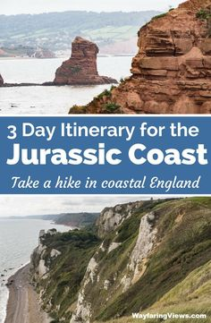 Get epic coastal views on the Jurassic coast of England with this hiking guide. Hiking Guide, Hiking Trails, Hiking Routes, Jurassic Coast, European Travel, Travel Europe, Hiking Europe, Travelling Europe, Traveling