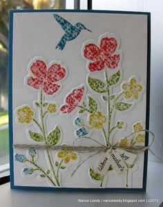 Wildflower Meadow stamp & TIEF, Stampin' Write Markers direct to stamp on watercolor paper Canopy Crafts: Wildflowers for Mom