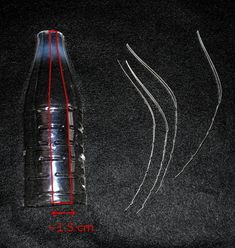 How to make a Christmas decoration. Icicle Ornaments From Plastic Bottles - Step 1 http://www.cutoutandkeep.net/projects/icicle-ornaments-from-plastic-bottles-2