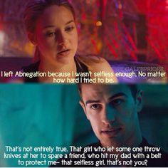 ~Divergent~ ~Insurgent~ ~Allegiant~ One of my favorite parts of the book :) Divergent Memes, Divergent Hunger Games, Divergent Fandom, Divergent Trilogy, Divergent Insurgent Allegiant, Insurgent Quotes, Tfios, Divergent 2014, Tris And Tobias