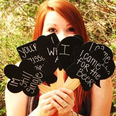 Photo booth props - chalk signs so that they can write a message as well..