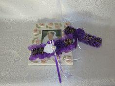 Bridal Garter, Wedding Garter, True Timber Camo Garter Set, Purple Camo Keepsake and Toss-away Garter Set. by TheMomentWeddingBout on Etsy