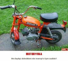 Poland People, Fiat 126, Nostalgia, Old Motorcycles, Classic Motors, Techno, Retro Vintage, Childhood, Bike