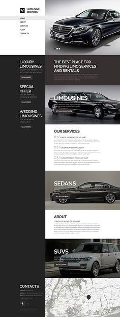 Template 53240 - Limousine   Responsive Website Template