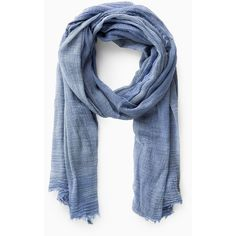 Violeta BY MANGO Lightweight Cotton Scarf ($22) ❤ liked on Polyvore