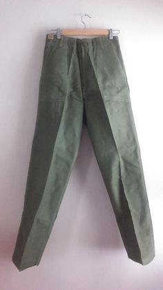 Men's Vintage Army Issue Khaki Pants / Size 30x 33 / Man's  Cotton Trousers / Militery Memorabilia / NOS / Men's Vintage Military Clothing by JulesCristenVintage on Etsy