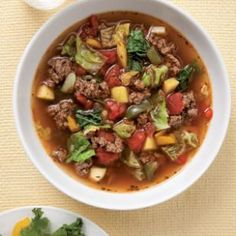 Savory and hearty soups, stews, and bean recipes.