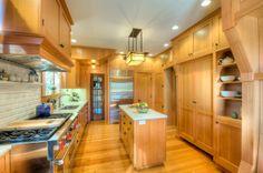 Craftsman inspired kitchen. Piedmont, CA. Designed by Kirk E. Peterson & Associates.