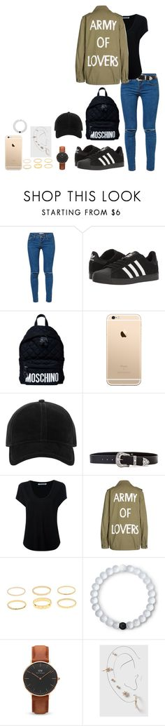 """""""Sem título #973"""" by army-forever ❤ liked on Polyvore featuring Kori, adidas, Moschino, rag & bone, B-Low the Belt, Alexander Wang, SET, Lokai, Daniel Wellington and Topshop"""