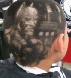 Batman hairstyle...alrighty then