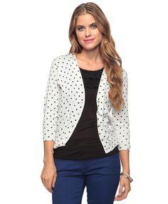 Polka Dot Cardigan Sweater $22.80
