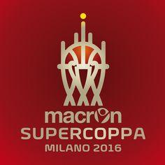 Macron Supercoppa Logo - Foolbite - Monza - Basketball - Sport Brand - Legabasket - Serie A - Red - Gold - Duomo - Milano -