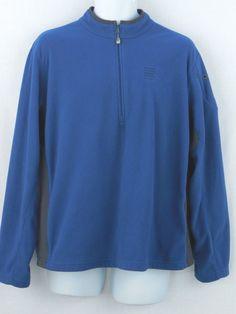 Lands' End Men's 1/4 Zip Neck Pullover Fleece Top L 42-44 Blue #LandsEnd #FleecePullover