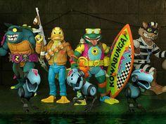 Teenage Mutant Ninja Turtles, Tmnt, Action Figures, Waves, Statues, Effigy, Ocean Waves, Beach Waves, Ninja Turtles