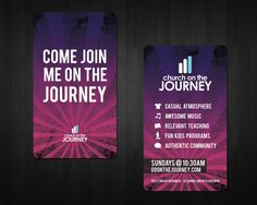 Church On The Journey Invite Cards