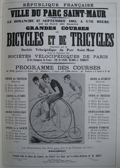 Vintage Bicycle Posters: Bicycles et de Tricycles by Mikael Colville-Andersen, via Flickr