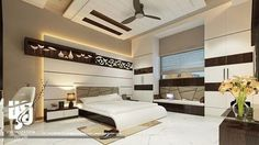 modern bedroom furniture sets and design catalogue. modern bed designs, modern bedroom furniture design, and wooden dressing table designs for bedroom. Bedroom False Ceiling Design, Bedroom Furniture Design, Modern Bedroom Design, Master Bedroom Design, Green Bedroom Paint, Design 3d, Design Ideas, Plafond Design, Residential Interior Design