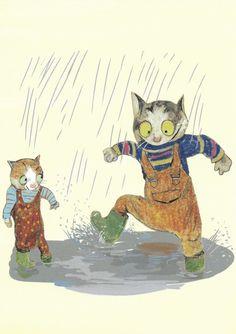 Postkarte mit Illustration von Wolf Erlbruch