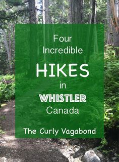 Whistler is a hiking mecca. The Curly Vagabond highlights Cheamakus Trail (Garibaldi Provincial Park), Rainbow Madeley Lakes Trail - East Trailhead, Whistler Train Wreck, and Stawamus Chief Trail in neighboring Squamish. Ways To Travel, Best Places To Travel, Travel Tips, Travel Destinations, Whistler, Adventure Holiday, Adventure Travel, Montreal, Voyage Canada