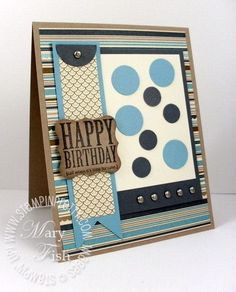 Masculine card by Mary Fish, http://Stampinpretty.com