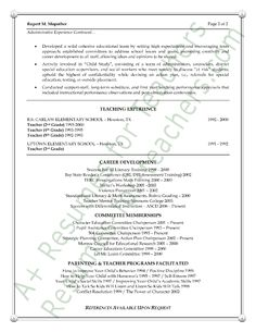 assistant principal resume sample page 2