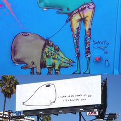 And then I saw a whale with legs wearing designer jeans walking another whale with even more legs and #munko all over Hollywood in huge bright lights selling and advertising nothing and only promoting love and #forgiveness - #peace and #love #davidchoe #give #forgive #forever #foreplay @munkochoe
