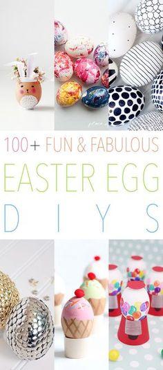 100+ Fun Fabulous Easter Egg DIYS