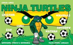 Ninja-Turtles-41820 digitally printed vinyl soccer sports team banner. Made in the USA and shipped fast by BannersUSA. www.bannersusa.com