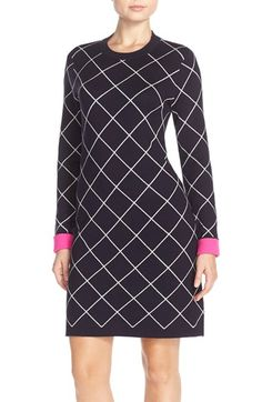 Eliza J Windowpane Check Sweater Dress available at #Nordstrom