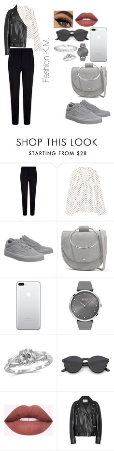 """""""Gray collection"""" by karinemarutyan ❤ liked on Polyvore featuring Escada Sport, MANGO, Vans, Theory, BOSS Black, Jewelonfire, Acne Studios and Humble Chic"""