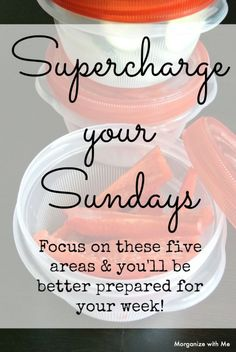 Supercharge your Sundays - why an organized Sunday makes for an organized week. Sunday Activities, Coping Skills, Organizer, Getting Organized, Homemaking, Clean House, Storage Organization, Cleaning Hacks, Helpful Hints
