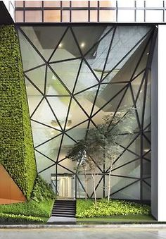 Stunning Glass Facade Building and Architecture Concept 18 - architektur Architecture Design, Green Architecture, Concept Architecture, Amazing Architecture, Contemporary Architecture, Landscape Architecture, Landscape Design, Architecture Interiors, Singapore Architecture