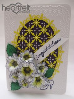 Heartfelt Creations   White And Yellow Blooming Congratulations