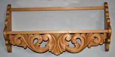 Norwegian, carved wood shelf in the acanthus style