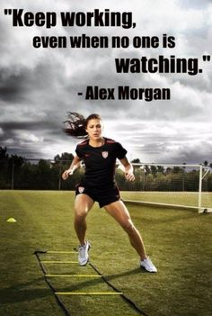 Alex Morgan soccer champion poster