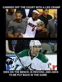 This is truly why hockey players are the best athletes in all of sports.