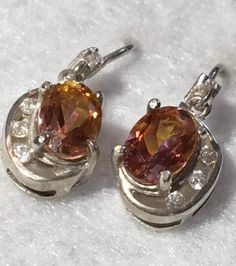 Vtg Sterling Silver Gemstone Dangle Drop Hook by Statusjacker