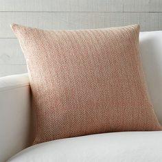 "Mylo Orange 20"" Pillow | Crate and Barrel"
