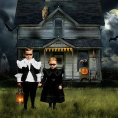 #Halloween Art. trick-or-treat by ms. bailey